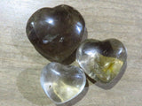 Polished Rock Crystal Hearts x 24 from Madagascar - TopRock