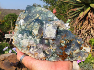Natural Green Cubic Fluorite Specimen x 1 from Betrokke, Madagascar