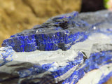 Natural Azurite Crystalline Plates x 2 from Kibwe, Congo