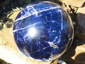 Polished XXL A Grade Sodalite Ball x 1  from Kunene, Namibia
