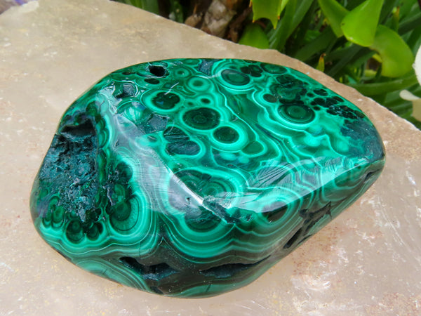 Polished Small to Medium Malachite Free Forms x 24 from Congo