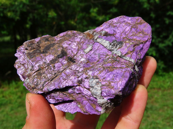 Natural Deep Purple Purpurite In Matrix Specimens x 4 From Namibia