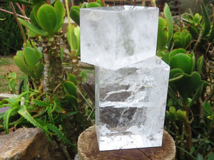 Cut & Polished Quartz Crystal Cubes x 3 from Madagascar