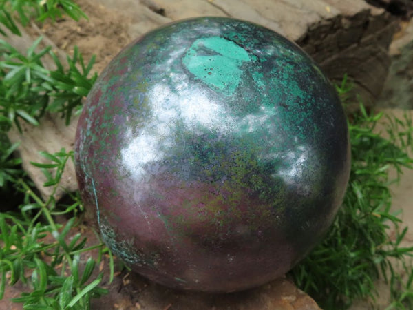 Polished Large & X Rare Cuprite & Malachite Mineral Sphere x 1 from Tantara, Congo