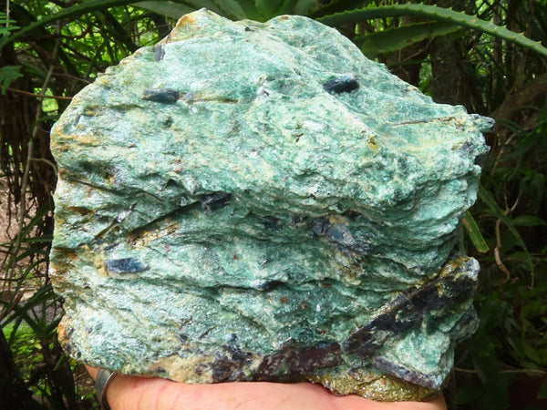Natural Large Blue Kyanite In Green Fuchsite Specimen x 1 from Zimbabwe