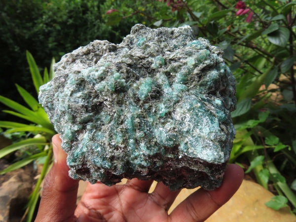 Natural Emeralds In Quartz & Mica Matrix x 3 From Sandawana, Zimbabwe