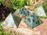 Polished Mixed Pyramids x 6 from Madagascar