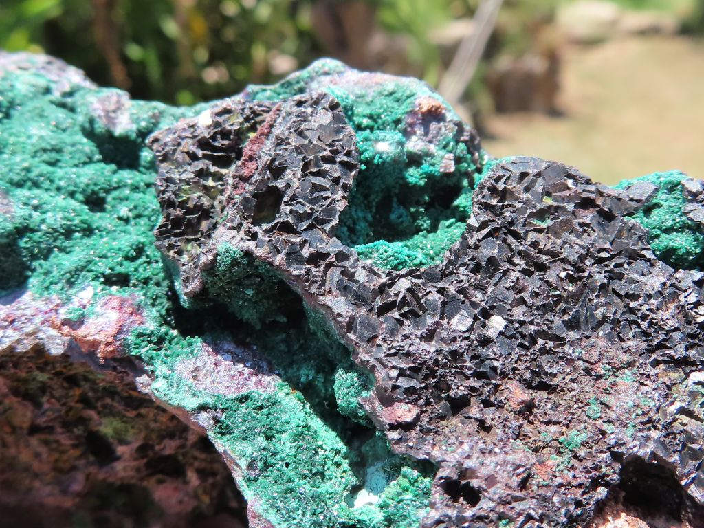 Natural Copper Nuggets with Silver Cuprite & Malachite Specimens x 4 from Tantara, Congo