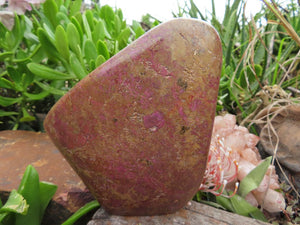 Polished Stichtite Standing Freeform x 1 from Barberton, South Africa
