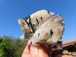 Natural Aegirine & Orthoclase With Smokey Quartz Crystals x 12 from Zomba, Malawi