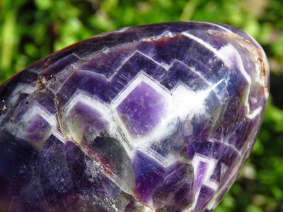 Polished Chevron Amethyst Eggs x 6 from Zambia