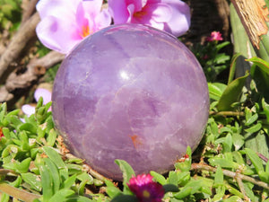 Polished Amethyst Quartz Crystal Ball x 1 from Zambia