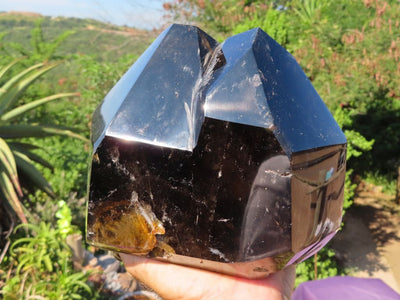Polished Large Smokey Quartz Crystal x 1 from Madagascar