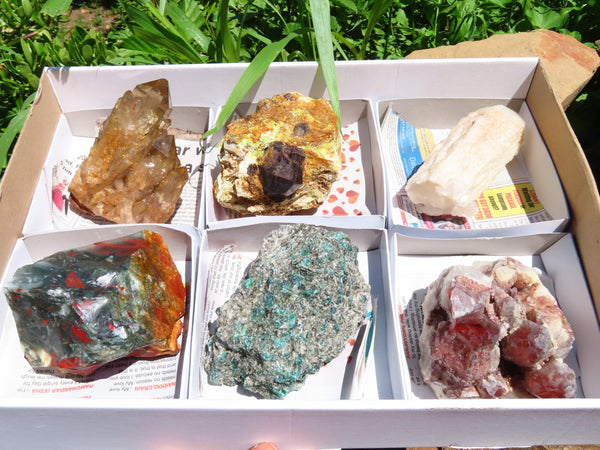 Natural Medium to Large Mixed Labelled Minerals x 6 From Southern Africa