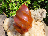 Polished Exceptional Carnelian Standing Flame x 1 from Madagascar
