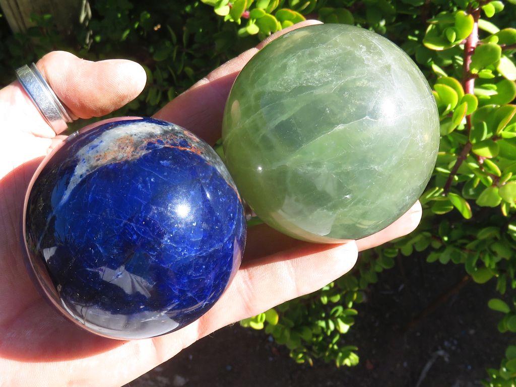 Polished Assorted & Labelled Balls x 6 from Southern Africa