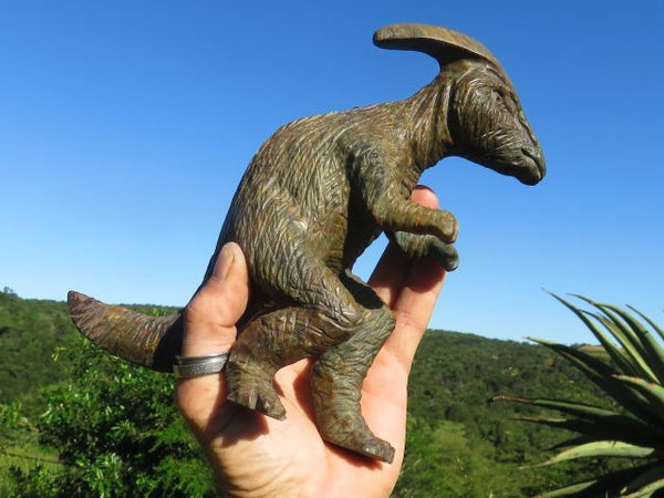 Polished Dinosaur Carving x 1  from Zimbabwe