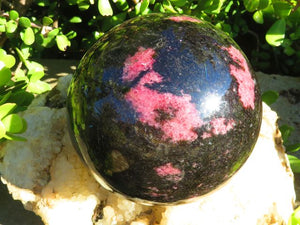 Polished Exceptional XL Rhodonite Ball x 1  from Madagascar