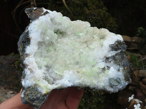 Natural Large Prehnite, Calcite & Quartz Cluster x 1 from Tafelkop, Namibia