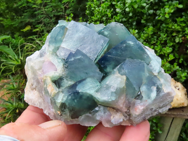 Natural Medium to Large Fluorite Specimens x 2 from Mandrosonoro, Madagascar