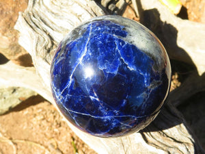 Polished Medium to Large Sodalite Balls x 6 from Namibia