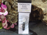 Black Tourmaline Silver Plated Wire Wrap from South Africa - TopRock