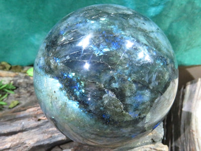 Polished Exceptional Labradorite Ball x 1  from Tulear, Madagascar