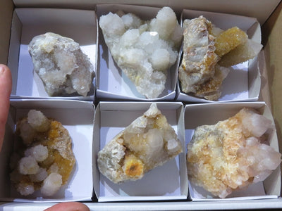 Natural Mixed Medium Spirit Quartz Clusters x 6 from Kwandebele, South Africa