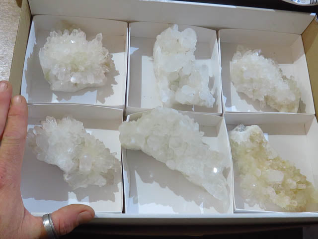 Natural Large Clear Quartz Clusters x 6 from Madagascar - TopRock