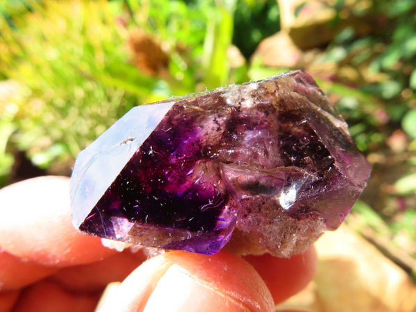 Natural Small Smokey Amethyst & Amethyst Quartz Crystals x 35 From Chiredzi, Zimbabwe