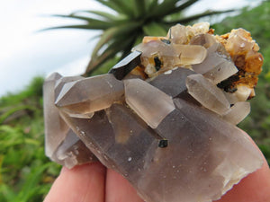 Natural Smokey Aegirine & Orthoclase Crystals x 12 from Zomba, Malawi