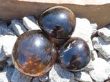Polished Morion Smokey Quartz Gallets x 12 from Madagascar