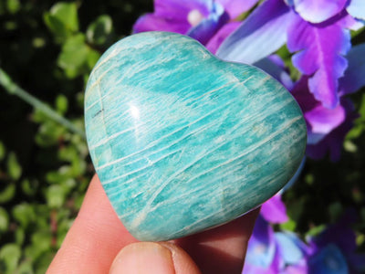 Polished Selected Colour Amazonite Hearts x 35 from Madagascar