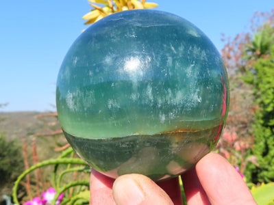 Polished Emerald Fluorite Ball x 1 from Madagascar