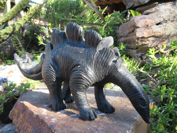Natural Large Dinosaur Carving x 1 From Zimbabwe