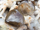 Polished Smokey Quartz Small Hearts x 20 from Madagascar
