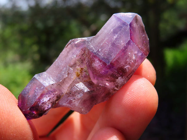 Natural Smokey Amethyst & Amethyst Quartz Crystals x 12 From Chiredzi, Zimbabwe