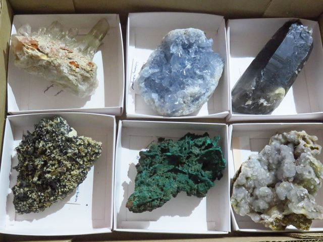 Natural Large Mixed Mineral Specimens x 6 from Mixed Localities - TopRock