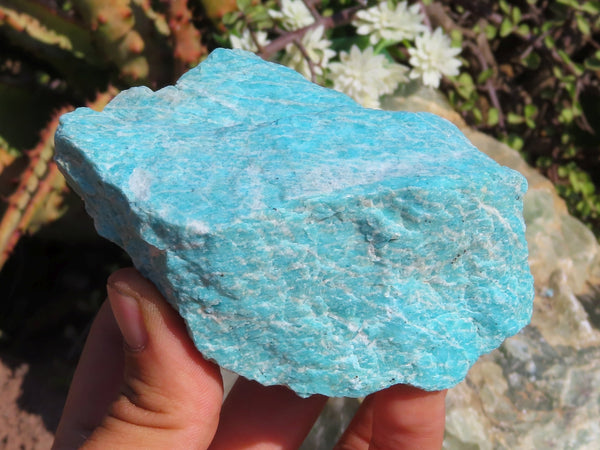 Natural Large Selected Amazonite Specimens x 12 from Madagascar