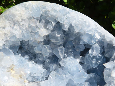 Polished XL Celestite Egg x 1 from Sakoany, Madagascar