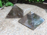 Polished Smokey Quartz Pyramids x 12 from Madagascar