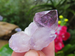 Natural Amethyst Window Quartz Crystals x 45 from Ambatondrazaka, Madagascar