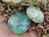 Polished Large Fluorite Gallets x 24 from Madagascar