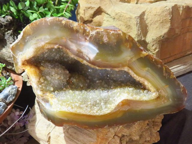 Polished Large Agate Geode x 1  from Mainterano, Madagascar - TopRock