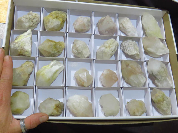 Natural Intact Pineapple Quartz Points x 24 from Antsirabe,  Madagascar