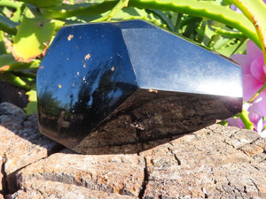 Polished Extra Shiny Black Tourmaline Crystal x 1  From Zambia