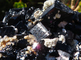 Natural Black Tourmaline & Quartz Specimens x 2 from Erongo, Namibia