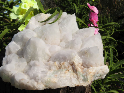 Natural Intact Love Star Quartz With Fuchsite Quartz Crystal Cluster x 1 from Ambatfinhandra, Madagascar