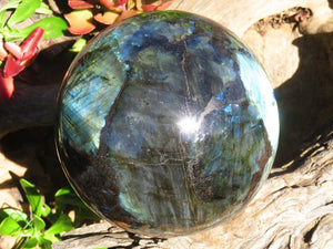 Polished XL Labradorite Ball x 1  from Tulear, Madagascar