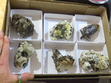 Natural Large Smokey Quartz & Aegerine Clusters x 6 from Zomba, Malawi